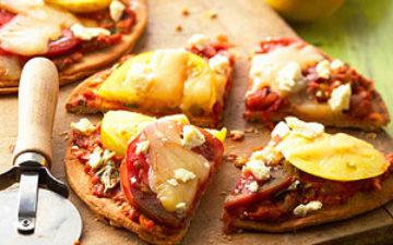 Roasted Summer Vegetable Pizzettes