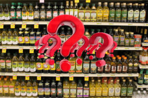 Olive Oils in the grocery store