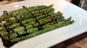 Click To Play Video of Mia Bella Balsamic Vinegar Being Drizzled Over Grilled Asparagus