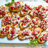 Burrata and Strawberry Bruschetta