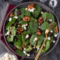 Spinach Salad with Balsamic Vinaigrette